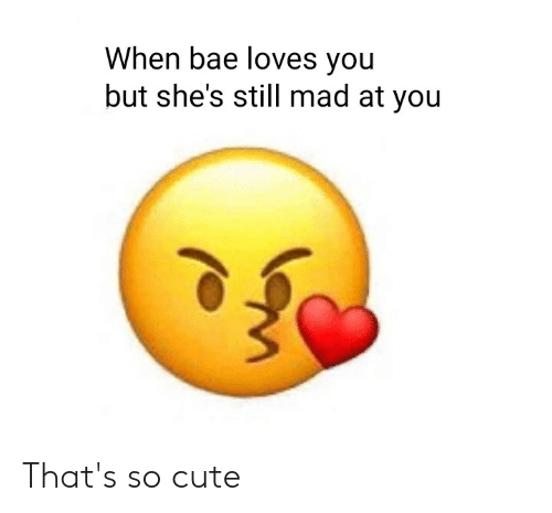 Still Mad At You: When bae loves you  but she's still mad at you That's so cute