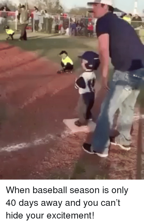 Baseballisms: When baseball season is only 40 days away and you can't hide your excitement!