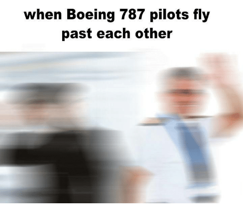 Boeing: when Boeing 787 pilots fly  past each other