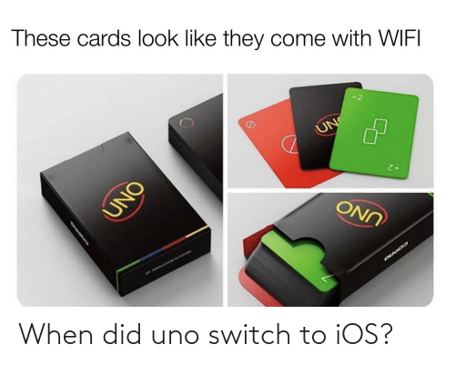 ios: When did uno switch to iOS?