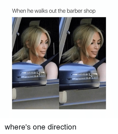 The Barber Shop: When he walks out the barber shop where's one direction