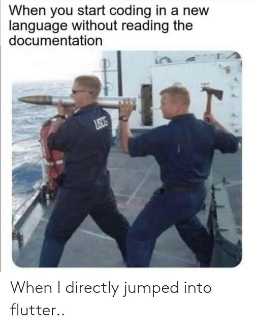 Jumped: When I directly jumped into flutter..