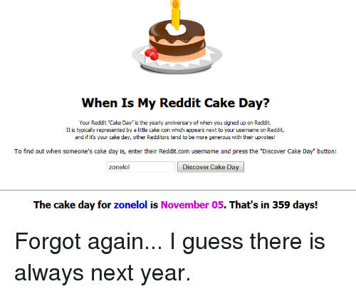 When Is My Reddit Cake Day? Your Reddit Cake Day S the ...
