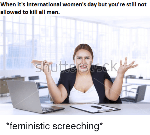 International Women's Day: When it's international women's day but you're still not  allowed to kill all men. <p>*feministic screeching*</p>
