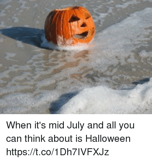 Funny, Halloween, and Can: When it's mid July and all you can think about is Halloween https://t.co/1Dh7IVFXJz