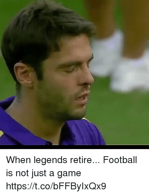 Football, Soccer, and Game: When legends retire...   Football is not just a game https://t.co/bFFByIxQx9