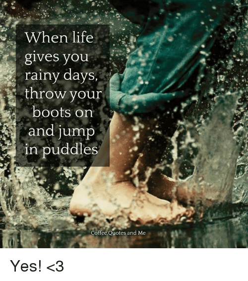 Rainy Day Quotes About Life: When Life Gives You Rainy Days Throw Your Boots Orn And