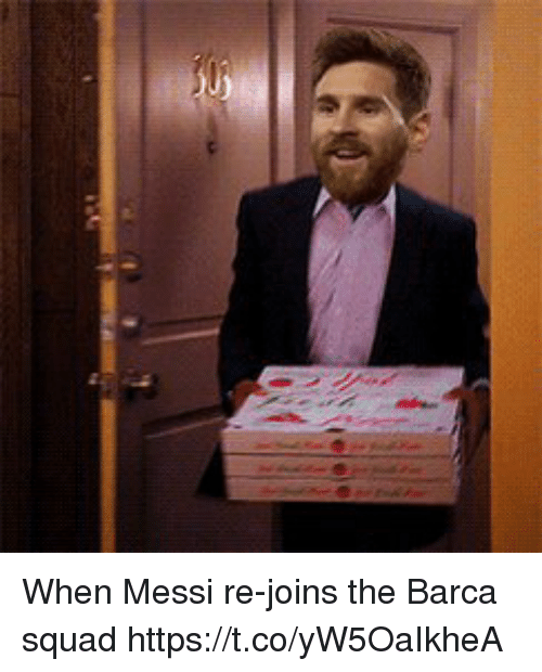 Soccer, Squad, and Messi: When Messi re-joins the Barca squad https://t.co/yW5OaIkheA