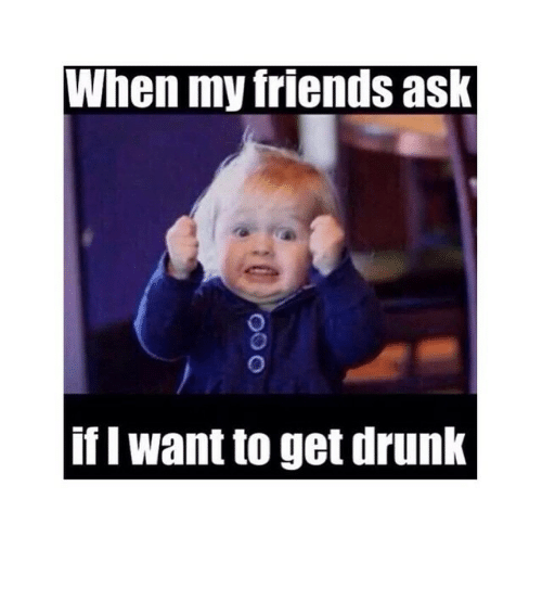 I Want To Get Drunk: When my friends ask  if I want to get drunk ⠀