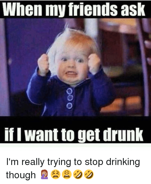 I Want To Get Drunk: When my friends ask  if I want to get drunk I'm really trying to stop drinking though 🤦🏽‍♀️😫😩🤣🤣