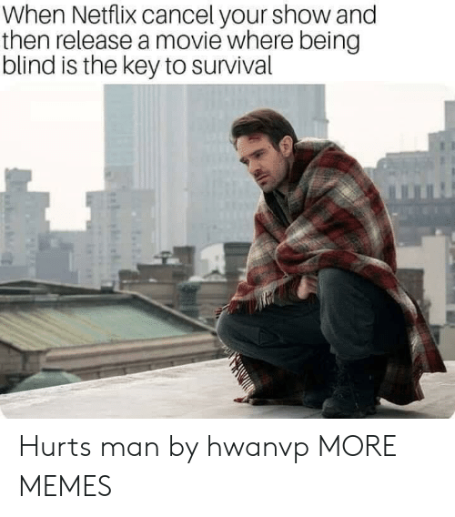 the key: When Netflix cancel your show and  then release a movie where being  blind is the key to survival Hurts man by hwanvp MORE MEMES