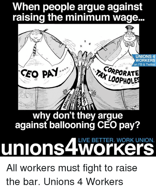 against lowest wage articles