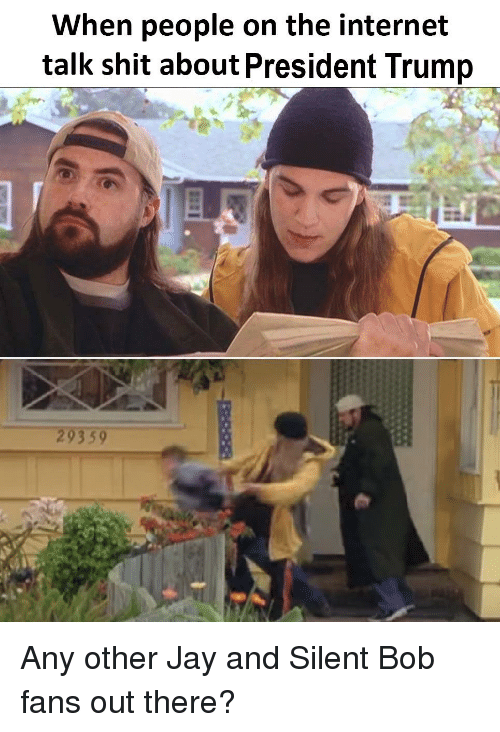 jay and silent bob: When people on the internet  talk shit about President Trump  29359