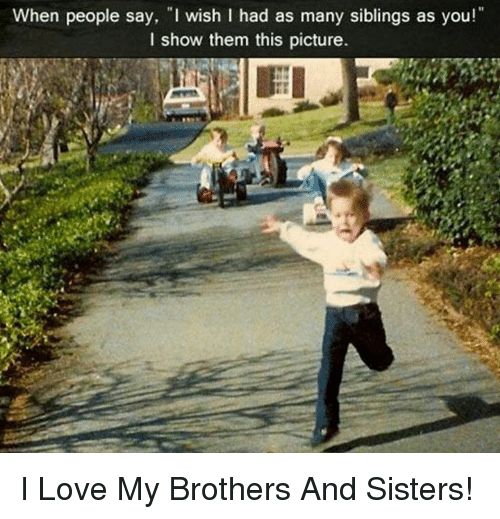 brother and sister love hate relationship meme