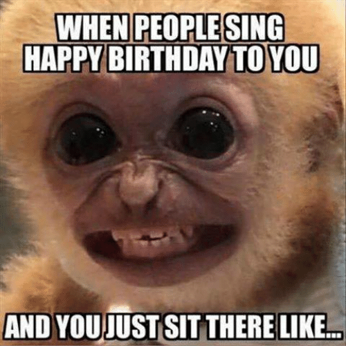 Birthday, Memes, and Singing: WHEN PEOPLE SING  HAPPY BIRTHDAY TO YOU  AND YOUJUST SIT THERE LIKE