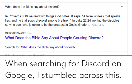 Searching: When searching for Discord on Google, I stumbled across this.