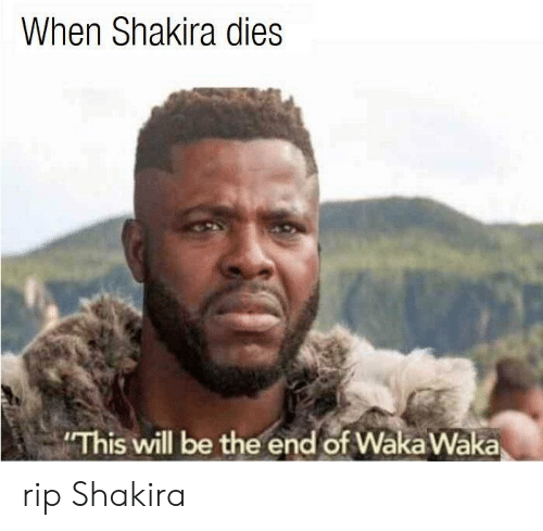 Waka: When Shakira dies  This will be the end of Wäka Waka rip Shakira