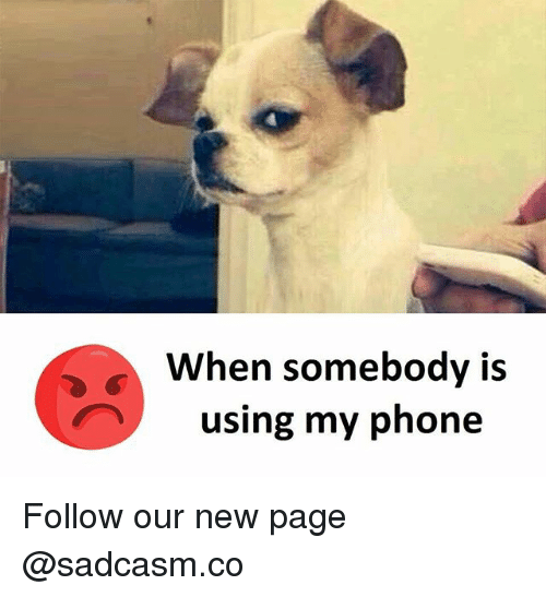 Memes, Phone, and 🤖: When somebodv is  using my phone Follow our new page @sadcasm.co