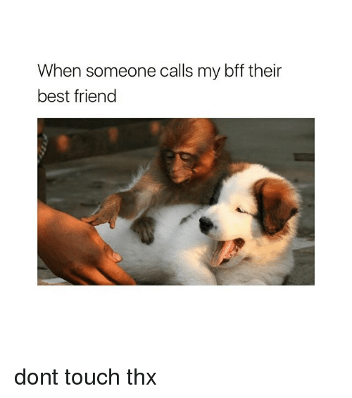Best Friend, Best, and Girl Memes: When someone calls my bff their  best friend dont touch thx