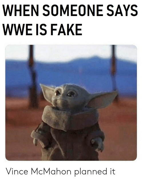 Vince McMahon: WHEN SOMEONE SAYS  WWE IS FAKE Vince McMahon planned it