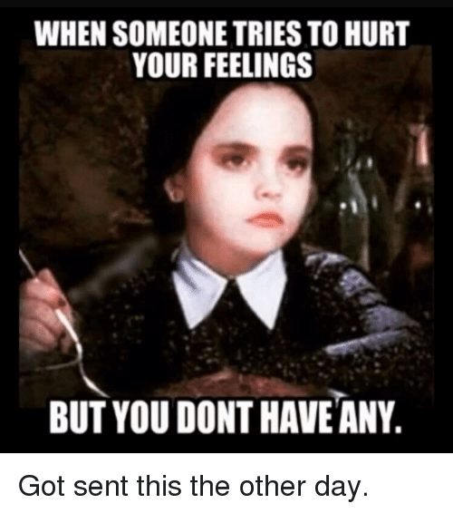 Forwardsfromgrandma, Got, and Day: WHEN SOMEONE TRIES TO HURT  YOUR FEELINGS  BUT YOU DONT HAVE ANY.