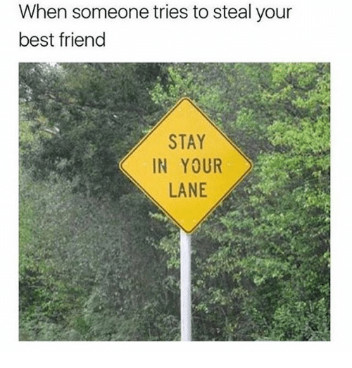 Best Friend, Best, and Girl Memes: When someone tries to steal your  best friend  STAY  IN YOUR  LANE