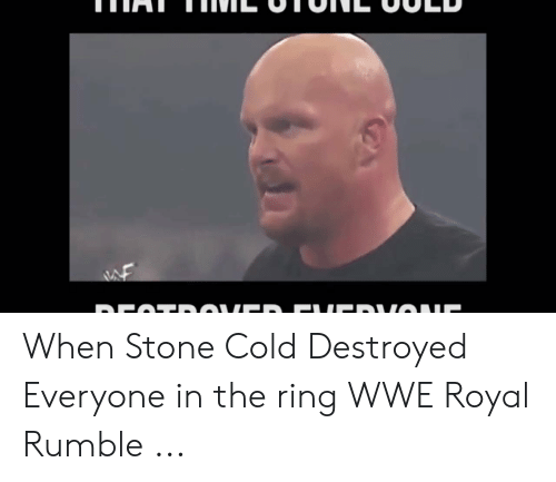Wwe Royal: When Stone Cold Destroyed Everyone in the ring WWE Royal Rumble ...