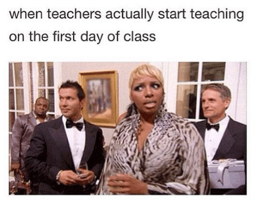 Class,  Starting, and The First: when teachers actually start teaching  on the first day of class