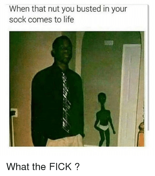Thats Nuts: When that nut you busted in your  sock comes to life What the FICK ?