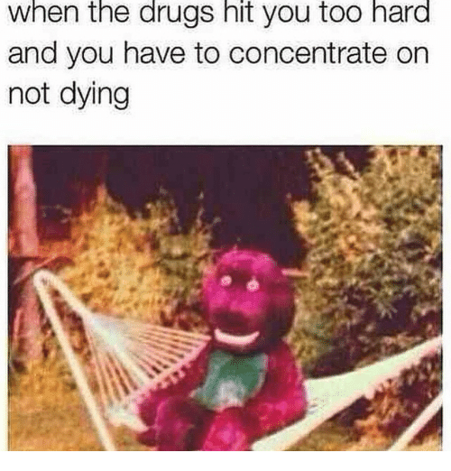 When The Drugs Hit You Too Hard And You Have To Concentrate On Not Dying: When the drugs hit you too hard  and you have to concentrate on  not dying