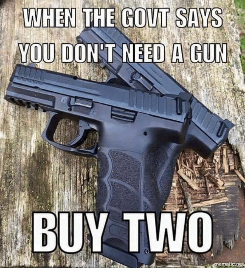 gout: WHEN THE GOUT SAYS  YOU DON T NEED A GUN  BUY TWO
