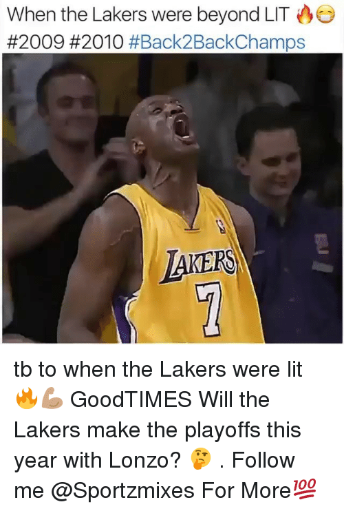 Goodtimes: When the Lakers were beyond LIT  #2009 #2010 #Back2BackChamps  AKERS tb to when the Lakers were lit 🔥💪🏽 GoodTIMES Will the Lakers make the playoffs this year with Lonzo? 🤔 . Follow me @Sportzmixes For More💯