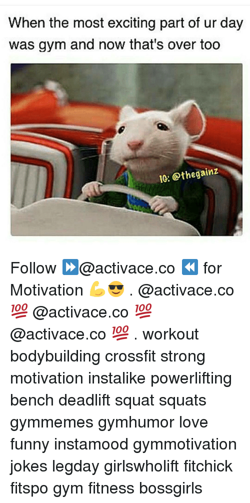 Gym, Bodybuilding, and Crossfit: When the most exciting part of ur day  was gym and now that's over too  IG: othe gainz Follow ⏩@activace.co ⏪ for Motivation 💪😎 . @activace.co 💯 @activace.co 💯 @activace.co 💯 . workout bodybuilding crossfit strong motivation instalike powerlifting bench deadlift squat squats gymmemes gymhumor love funny instamood gymmotivation jokes legday girlswholift fitchick fitspo gym fitness bossgirls
