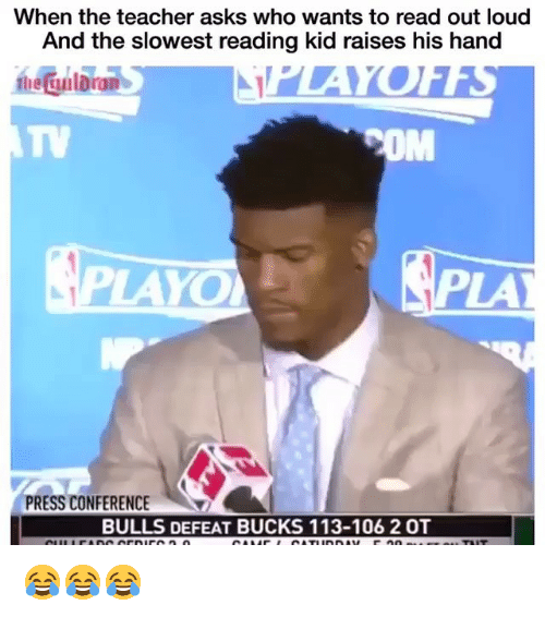 press conference: When the teacher asks who wants to read out loud  And the slowest reading kid raises his hand  he Gulbran  TV  OM  LAYO  PLA  PRESS CONFERENCE  BULLS DEFEAT BUCKS 113-106 2 OT 😂😂😂