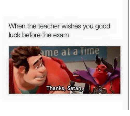 Wish Me Luck For My Exam Quotes: 25+ Best Memes About Satan