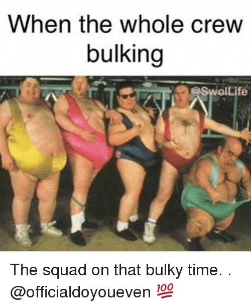Gym, Squad, and Time: When the whole crew  bulking  SwolLife The squad on that bulky time. . @officialdoyoueven 💯