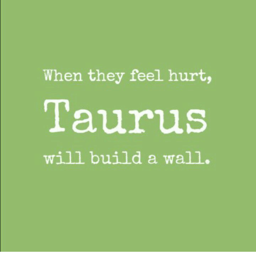 Taurus, Walle, and Build A: When they feel hurt,  Taurus  will build a wall.