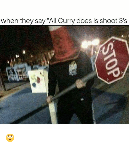 """Memes, 🤖, and Curry: when they say """"All Curry does is shoot 3's  500 🙄"""