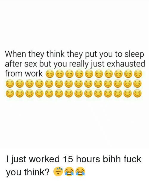 Why does sex put you to sleep