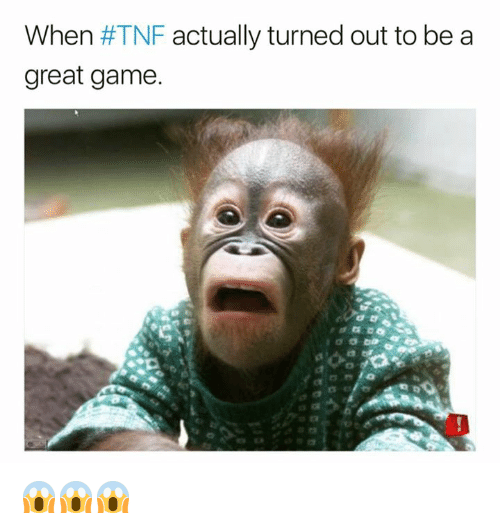 Nfl, Game, and Tnf: When #TNF actually turned out to be a  great game 😱😱😱