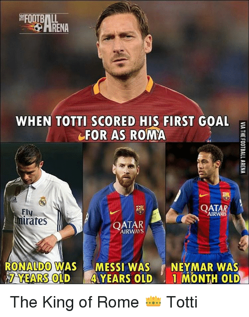 when totti scored his first goal for as roma airways 16531003 when totti scored his first goal for as roma airways imates qatar