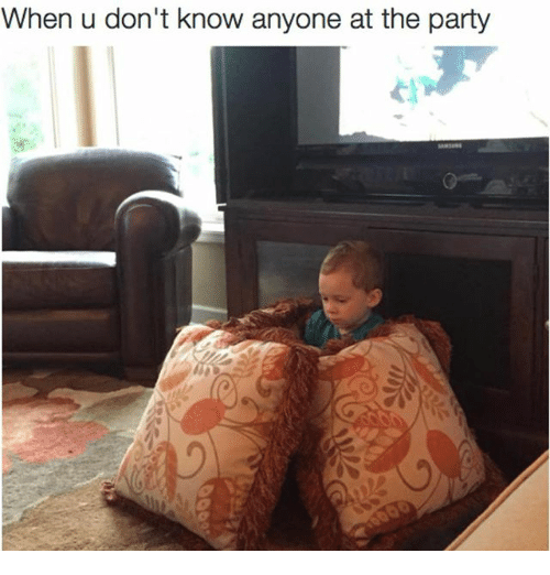 Memes, Party, and 🤖: When u don't know anyone at the party
