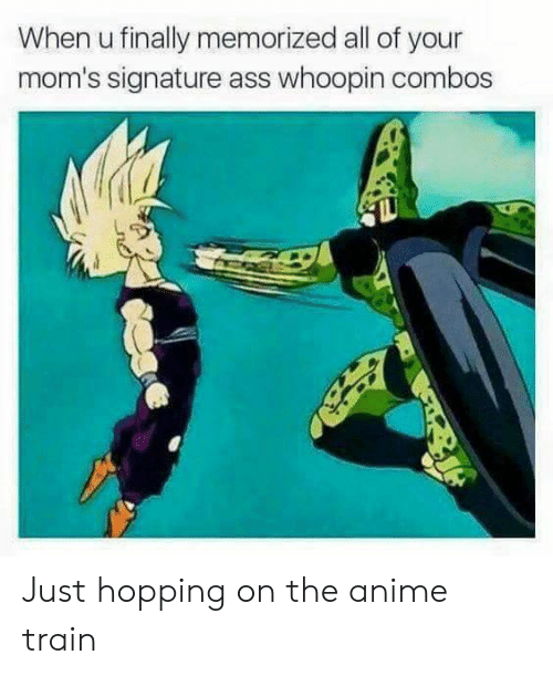 Combos: When u finally memorized all of your  mom's signature ass whoopin combos Just hopping on the anime train