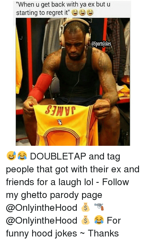 """Hood Jokes: """"When u get back with ya ex but u  starting to regret it""""  HOSportsjokes 😅😂 DOUBLETAP and tag people that got with their ex and friends for a laugh lol - Follow my ghetto parody page @OnlyintheHood 💰 🔫 @OnlyintheHood 💰 😂 For funny hood jokes ~ Thanks"""