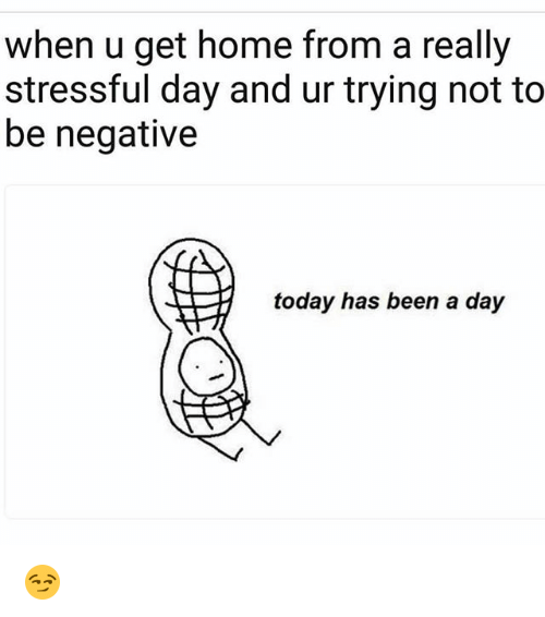 Funny, Home, and Today: when u get home from a really  stressful day and ur trying not to  be negative  today has been a day 😏