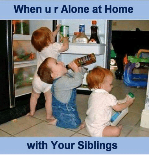 Siblings: When u r Alone at Home  with Your Siblings