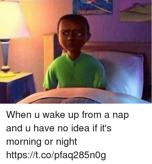 Girl Memes, Idea, and Wake: When u wake up from a nap and u have no idea if it's morning or night https://t.co/pfaq285n0g