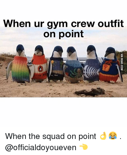 Gym: When ur gym crew outfit  on point When the squad on point 👌😂 . @officialdoyoueven 👈