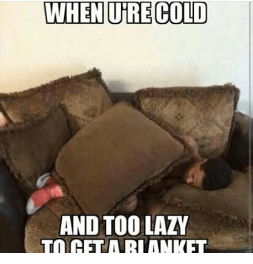 Lazy, Memes, and Cold: WHEN URE COLD  AND TOO LAZY