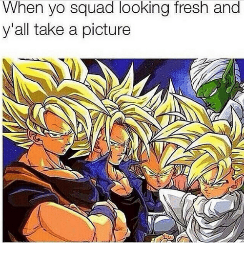 Squa: When vO squa  y'all take a picture  d looking fresh a  nd
